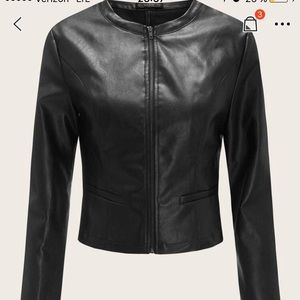 Imitation of leather jacket size S